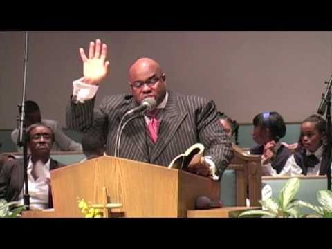"Rev K. Workman preaching "" Readiness to Serve"""