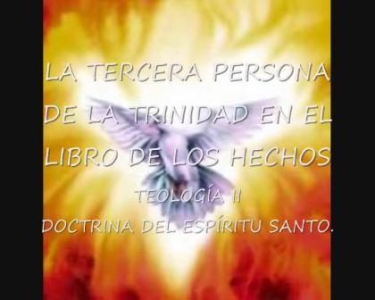 EL ESPÍRITU SANTO EN EL LIBRO DE HECHOS