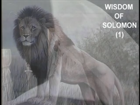 Wisdom of Solomon (1)