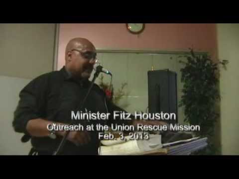 Minister Fitz at  Union Rescue Mission (2/2/2013)