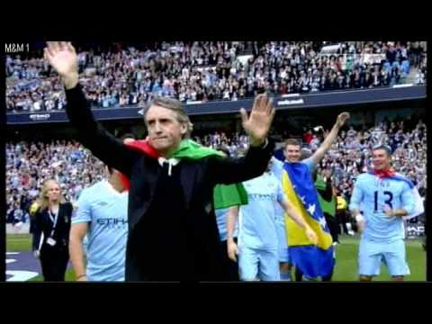 MAN City Celebration Premier League 2011/2012