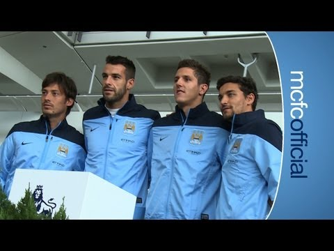 NEW SIGNINGS: Negredo, Navas, Jovetic and Silva arrive in Hong Kong