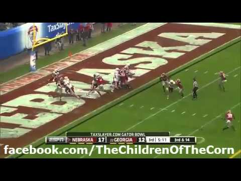 2014 Gator Bowl - Nebraska 99 Yard Touchdown Pass With Husker Radio Play Call - BEST VERSION ONLINE!