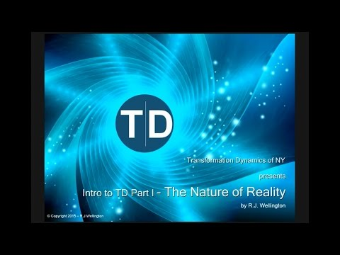 Transformation Dynamics - What is Reality?