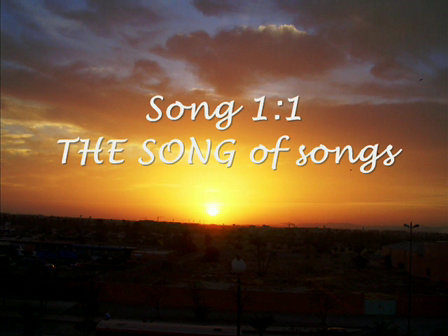 Song of Solomon sung for my Lord