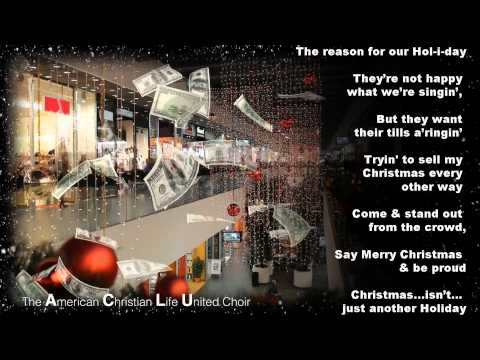 Say Merry Christmas - Vocal Carrie Rinderer and the American Christian Life United (ACLU) choir...