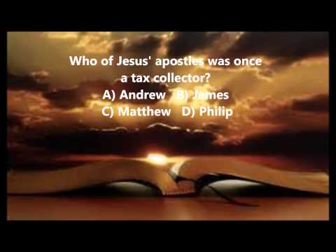 Bible Trivia 006 From The Book Of Matthew