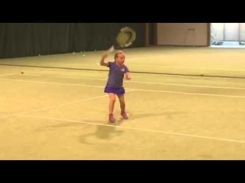 Ewa (*2009 / POL) - Forehand 3.0 & Backhand 3.0 practice rally with foam balls