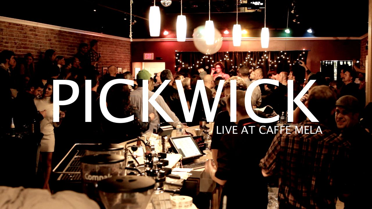 Pickwick - Window Sill - NEW YEARS at Caffe Mela