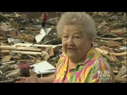 Woman Finds Her Dog after the Tornado