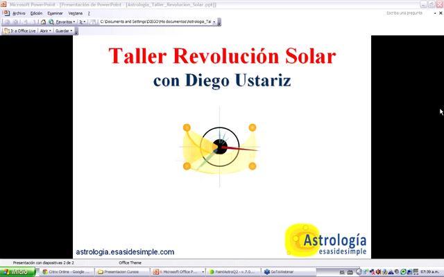 Taller Revolucion Solar. Sesión 1 de 7