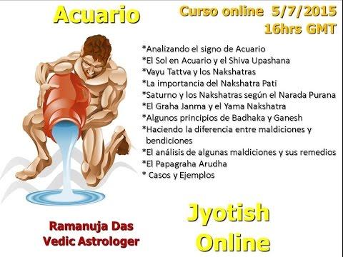 CURSO SIGNO DE ACUARIO 2  Astrologia Vedica (Ramanuja Das)