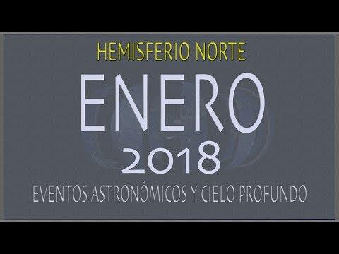 CIELO DE ENERO 2018. HEMISFERIO NORTE
