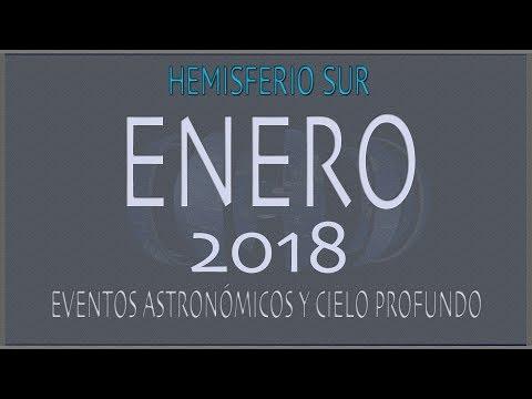 CIELO DE ENERO 2018. HEMISFERIO SUR
