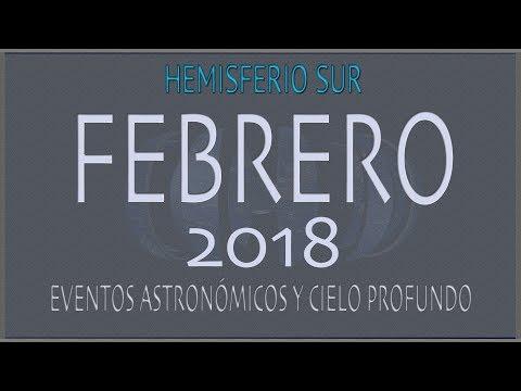CIELO DE FEBRERO 2018. HEMISFERIO SUR