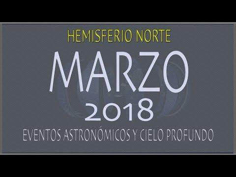 CIELO DE MARZO 2018. HEMISFERIO NORTE
