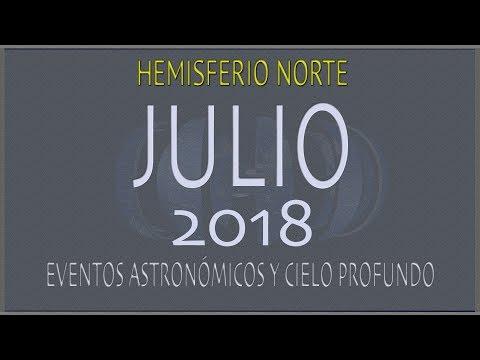 CIELO DE JULIO 2018. HEMISFERIO NORTE
