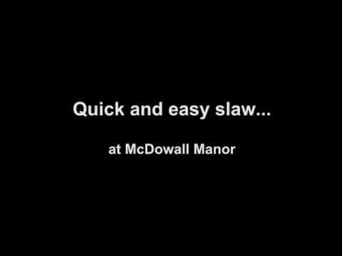 How to make a very quick and easy slaw