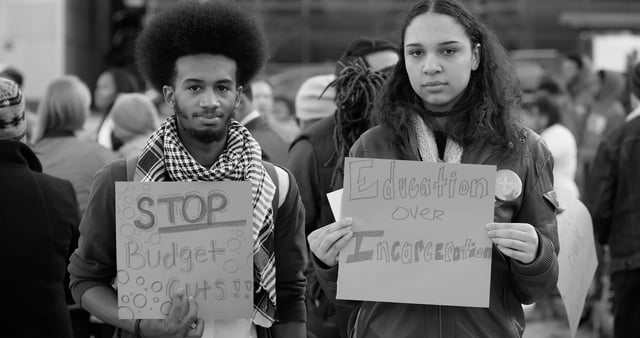 VIDEO: Baltimore youth rally to save their high-school from budget cuts