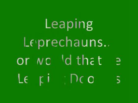 Leaping Leprechauns...Doodles!