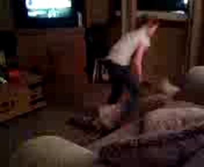Hunter plays wii dance!