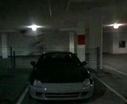 Vaults over Ryans car
