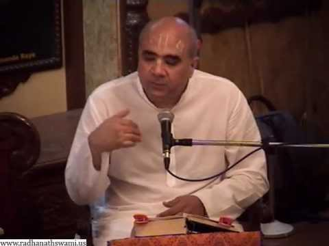 Lecture on Love and Dedication of Madhvendra Puri by Krishna Chandra Prabhu in ISKCON Chowpatty