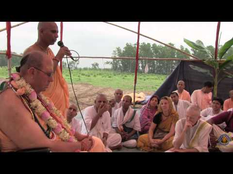 Mayapur Institute Bhumi Puja Ceremony with HH Jayapataka Swami at Navadwip