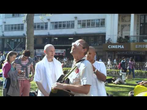 Harinam Sankirtan in Leicester Square on 03rd May, 2013