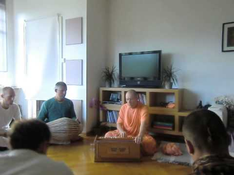 HH Bhakti Vaibhava Swami kirtan at Nama Hatta Norway on 10th June, 2013