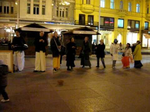 Harinam Sankirtan at Croatia, Zagreb
