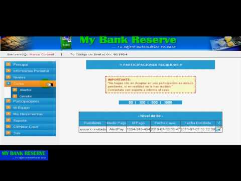 My Bank Reserve - Panel de control (3/3)
