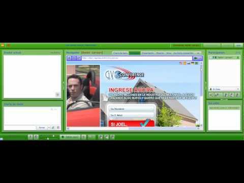 Modo Browser en Sala De Conferencias de GVOConference