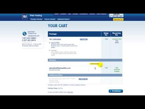Como comprar un hosting y obtener dominio gratis con 1and1