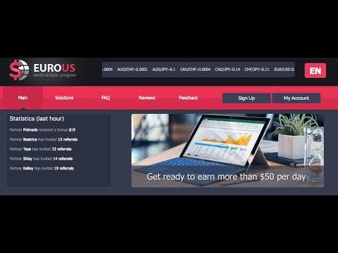 Cómo invertir con EuroUS. $100 de Regalo