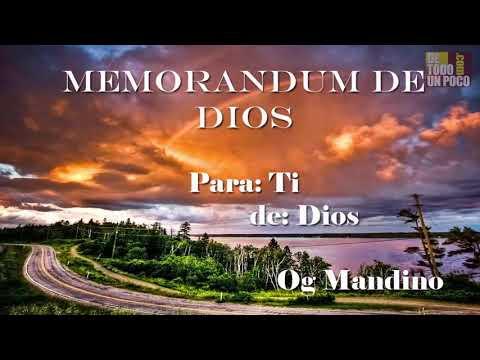EL MEMORANDUM DE DIOS-INSTRUCCIONES DE SIMON PETTER A TRAVES DE OG MANDINO-Audio Libro Completo