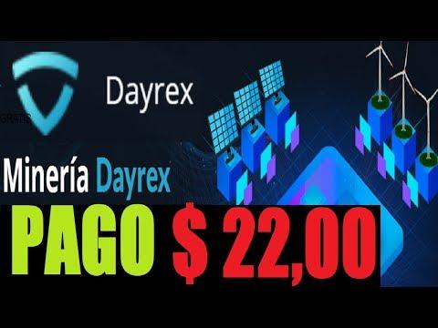 ✅ DAYREX PAGO AL INSTANTE $22.00 / BONO GRATIS 100GH/S + 5 GH/S POR REFERIDO