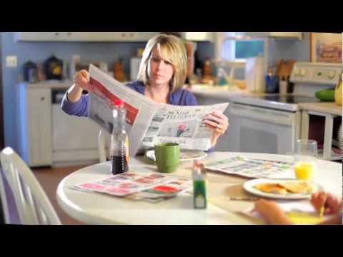 A Newspaper Commercial
