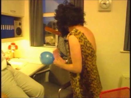 TV GaGa, RTE TV Show, Ireland, Lynn Julian as a Naughty Nurse, Singing Telegram Girl in a Comedy Sketch