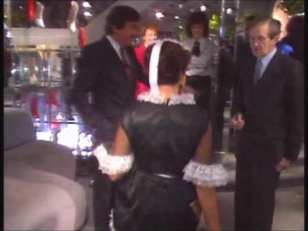TV GaGa, RTE TV Show, Ireland, Lynn Julian as a French Maid Singing Telegram Girl in Comedy Talk Show