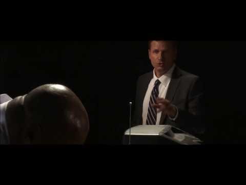 Actor Sean McPherson as CIA agent Frank Rawlings