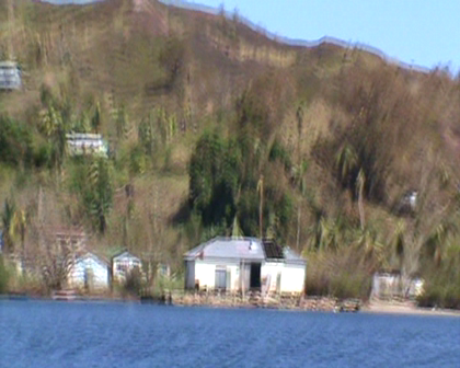 View of houses in Buakonikai Rabi Island devasated Cyclone Tomas