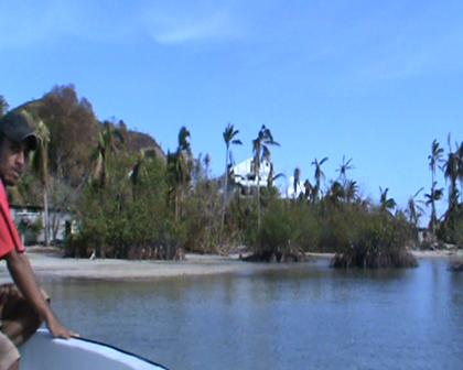 Landing Buakonikai Village Rabi devasated Cyclone Tomas