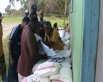Fiji DISMAC offical helping organise Fiji govt aid distribution Rabi