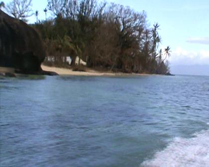 Leaving Nasau settlement Rabi Fiji
