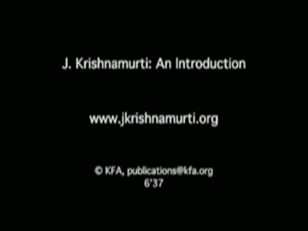 Jiddu Krishnamurti - You are the World