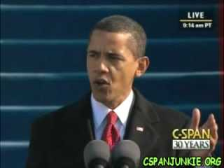 Barack Obama Inaugural Speech