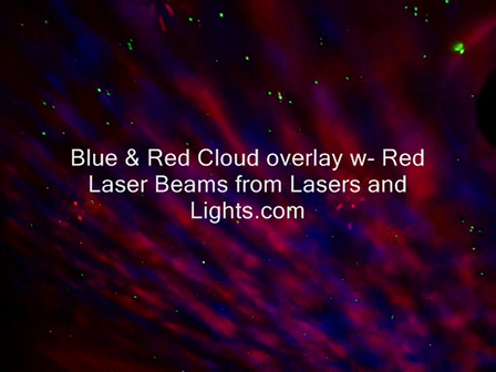 Blue & Red Nebula Cloudfield Projectors w-Red Starry Starry Night Laser overlay