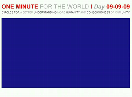 ONE MINUTE FOR THE WORLD - DAY 09-09-09 Statement STARHAWK