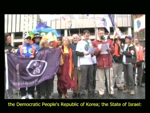 The World March for Peace and Non Violence-Video Synthesis - The Base Team